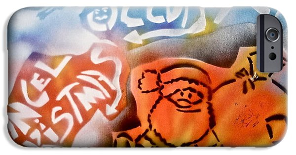 Occupy Paintings iPhone Cases - Occupy X-mas iPhone Case by Tony B Conscious