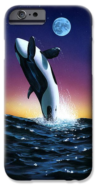 Whale iPhone Cases - Ocean Leap iPhone Case by MGL Studio - Chris Hiett