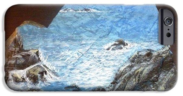 Calm Sculptures iPhone Cases - Ocean iPhone Case by Monika Dickson-Shepherdson