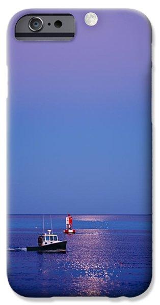 Moon iPhone Cases - Ocean Moonrise iPhone Case by Steve Gadomski