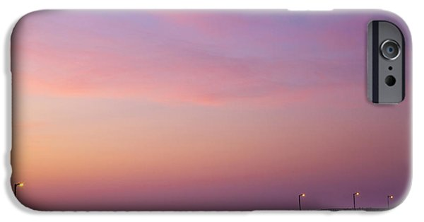 Beach At Night iPhone Cases - Ocean Pier at Dawn iPhone Case by David Buffington