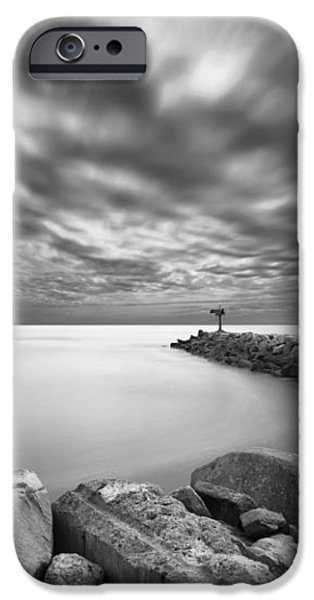 Oceanside Harbor Jetty 2 iPhone Case by Larry Marshall