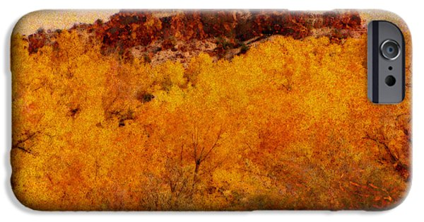 Autumn Landscape Mixed Media iPhone Cases - October  iPhone Case by Ann Powell