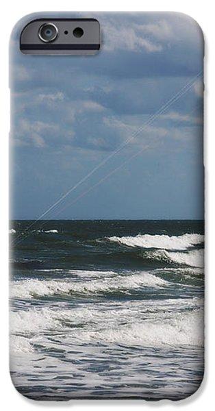October Beach Kite Surfer iPhone Case by Susanne Van Hulst