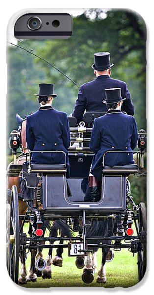 Carriages iPhone Cases - Of More Gentile Times iPhone Case by Meirion Matthias