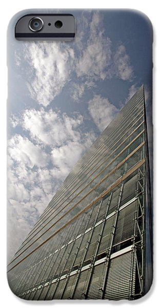 Office Block iPhone Cases - Office Building iPhone Case by Carlos Dominguez