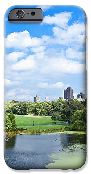 Office Buildings from a Park iPhone Case by Inti St. Clair