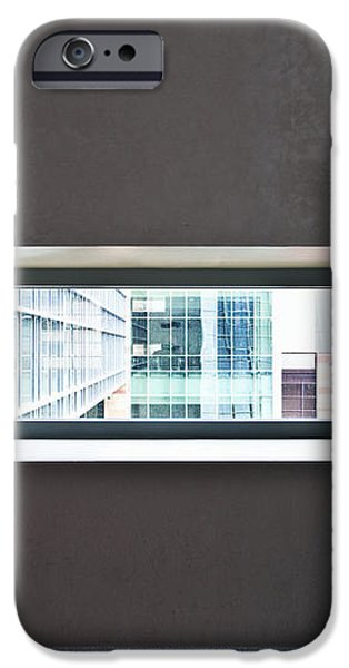Office Buildings Seen Through Window iPhone Case by Dave & Les Jacobs