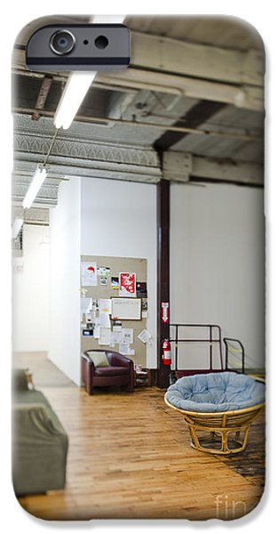 Office Space Photographs iPhone Cases - Office Waiting Area iPhone Case by Eddy Joaquim