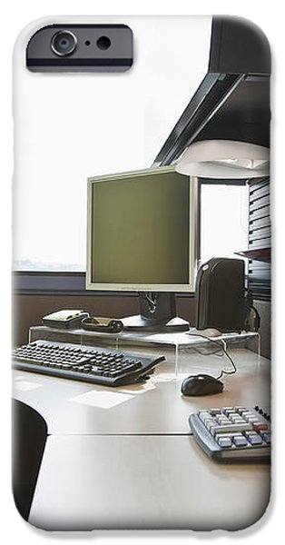 Office Work Station iPhone Case by Jetta Productions, Inc