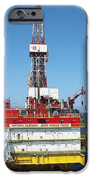 Oil Production Rig, Baltic Sea iPhone Case by Ria Novosti