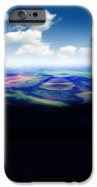 Recently Sold -  - Oil Slick iPhone Cases - Oil Spill, Artwork iPhone Case by Victor Habbick Visions