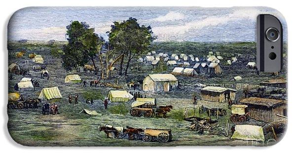 Destiny iPhone Cases - Oklahoma City, 1889 iPhone Case by Granger