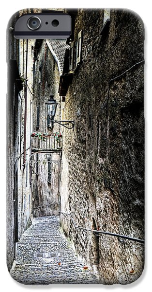 Dirty iPhone Cases - old alley in Italy iPhone Case by Joana Kruse