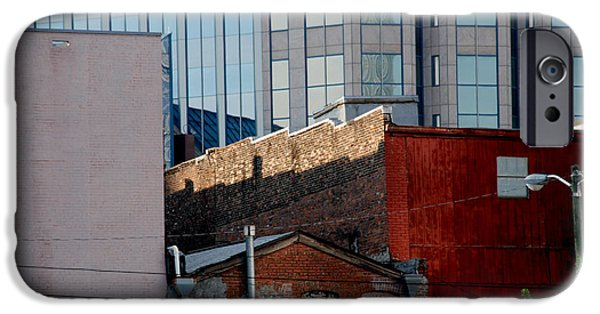 Nashville Architecture iPhone Cases - Old and new close together iPhone Case by Susanne Van Hulst