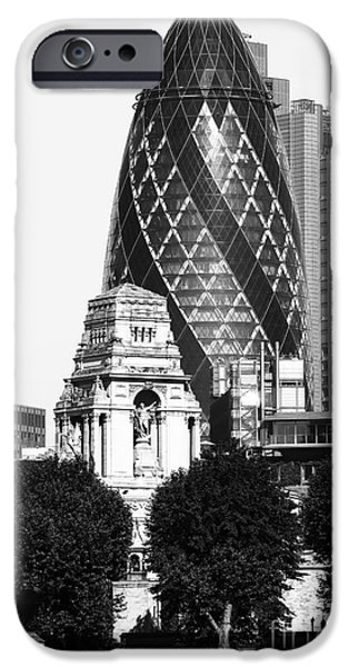 Old And New iPhone Cases - Old and New in London iPhone Case by John Rizzuto