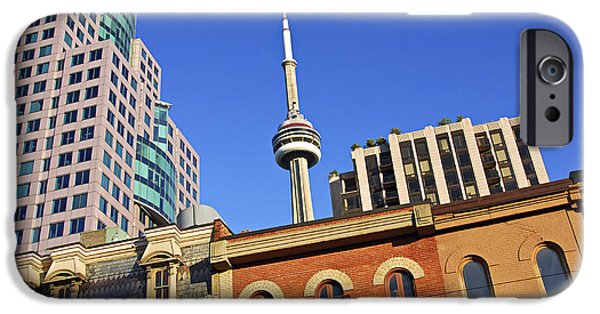Business Photographs iPhone Cases - Old and new Toronto iPhone Case by Elena Elisseeva