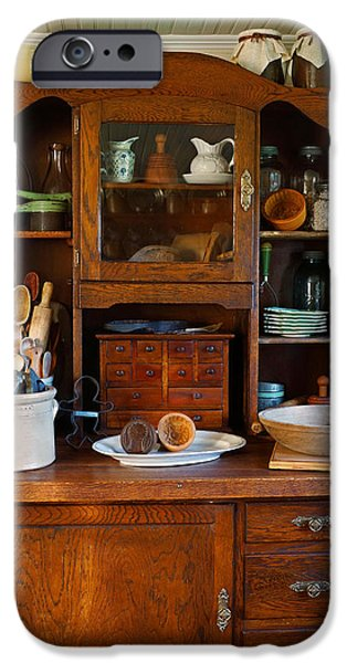 Old Bakers Cabinet iPhone Case by Carmen Del Valle