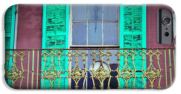 House Art iPhone Cases - Old Balcony iPhone Case by Perry Webster