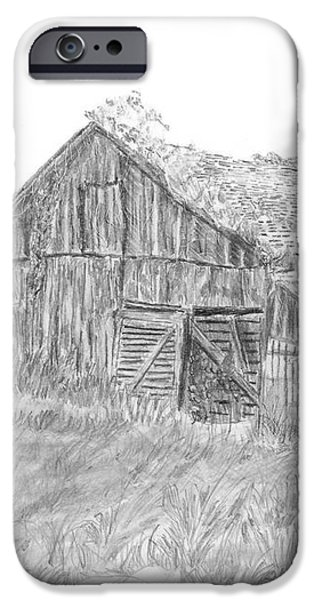 Old Barn 3 iPhone Case by Barry Jones