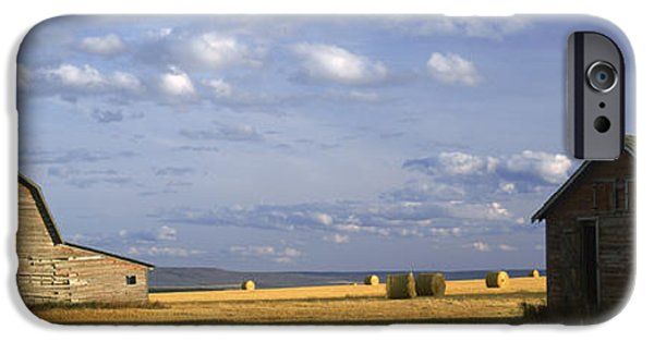 Old Barn iPhone Cases - Old Barns, Peace-river Area iPhone Case by David Nunuk