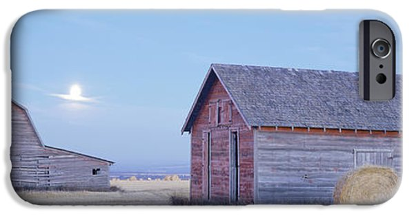 Old Barn iPhone Cases - Old Barns, Peace River Area Near Dawson iPhone Case by David Nunuk