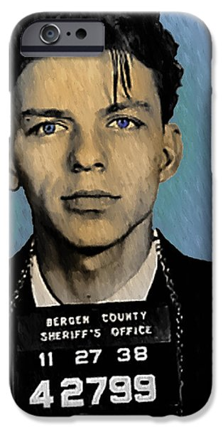 Old Mixed Media iPhone Cases - Old Blue Eyes - Frank Sinatra iPhone Case by Bill Cannon