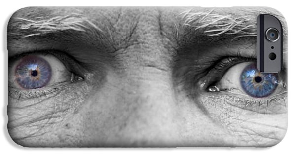 Gray Hair iPhone Cases - Old Blue Eyes iPhone Case by James BO  Insogna