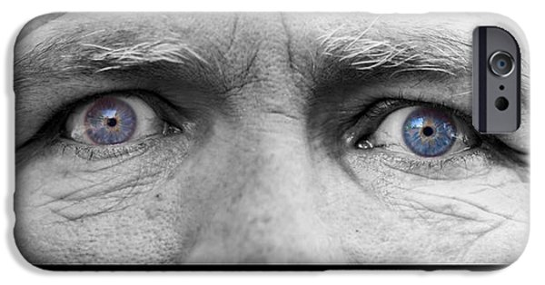 Gray Hair iPhone Cases - Old Blue Eyes Poster Print iPhone Case by James BO  Insogna