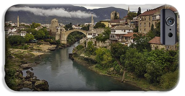 Staris iPhone Cases - Old Bridge of Mostar iPhone Case by Ayhan Altun