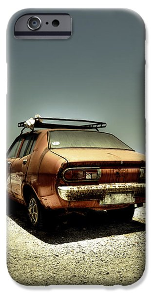 Sheets iPhone Cases - Old Car iPhone Case by Joana Kruse