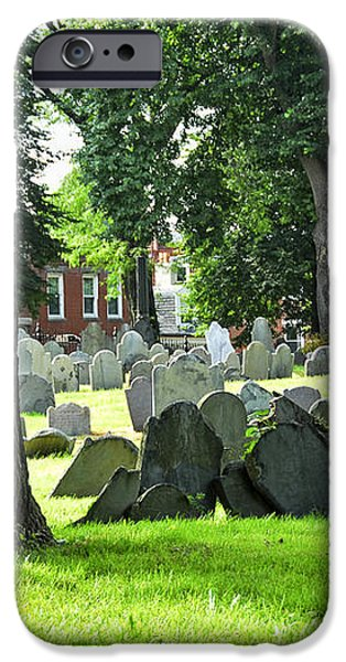 Old cemetery in Boston iPhone Case by Elena Elisseeva