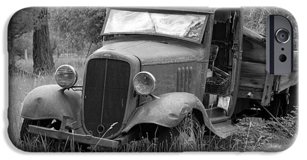 1949 Plymouth iPhone Cases - Old Chevy Truck iPhone Case by Steve McKinzie
