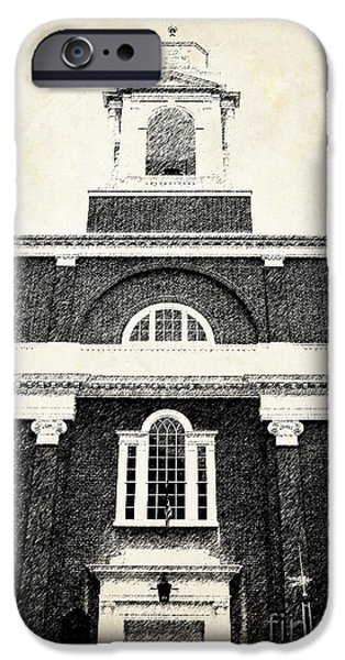 Freedom iPhone Cases - Old Church in Boston iPhone Case by Elena Elisseeva
