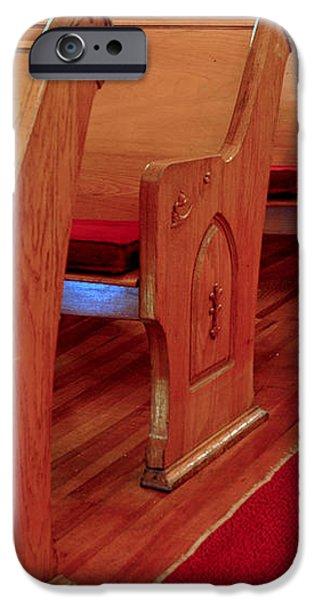 Old Church Pews iPhone Case by LeeAnn McLaneGoetz McLaneGoetzStudioLLCcom
