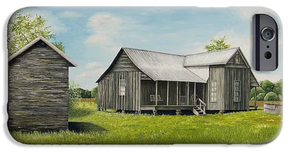 Arkansas iPhone Cases - Old Clark Home iPhone Case by Mary Ann King