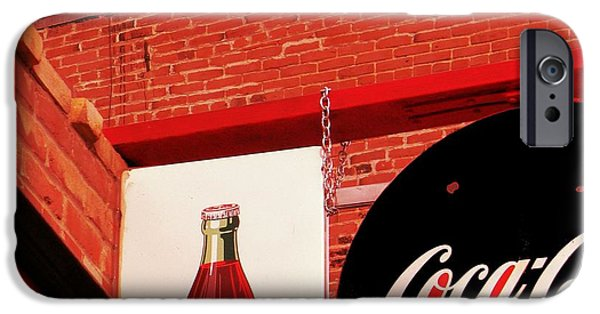 Michelle Mixed Media iPhone Cases - Old Coke iPhone Case by Michelle Frizzell-Thompson