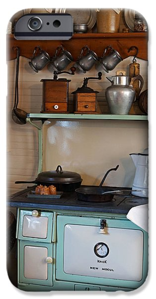 Old Cook Stove iPhone Case by Carmen Del Valle