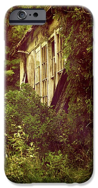 Rural Schools iPhone Cases - Old Country Schoolhouse. iPhone Case by Kelly Nelson
