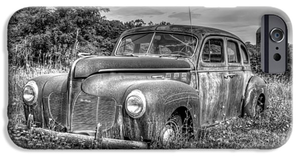 Cars iPhone Cases - Old DeSoto iPhone Case by Scott Norris