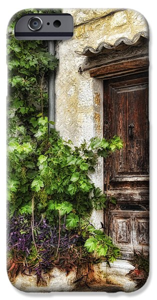 Best Sellers -  - Abstract Digital Pyrography iPhone Cases - Old Door 2 iPhone Case by Mauro Celotti