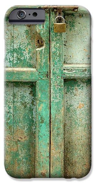 Ruins iPhone Cases - Old Door iPhone Case by Adam Romanowicz