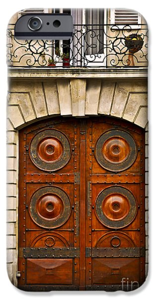 Balcony iPhone Cases - Old doors iPhone Case by Elena Elisseeva