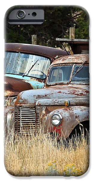 Old Farm Trucks iPhone Case by Steve McKinzie