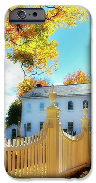Old First Church of Bennington iPhone Case by Thomas Schoeller