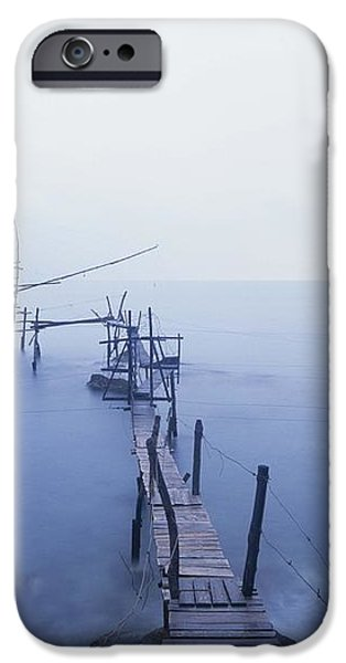 Old Fishing Platform At Dusk iPhone Case by Axiom Photographic