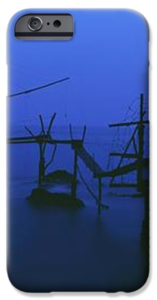Old Fishing Platform Over Water At Dusk iPhone Case by Axiom Photographic