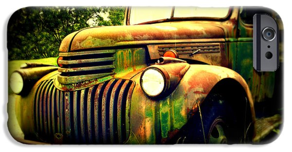 Old Trucks Photographs iPhone Cases - Old Flatbed 2 iPhone Case by Perry Webster