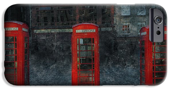 Buildings Mixed Media iPhone Cases - Old Friends iPhone Case by Svetlana Sewell