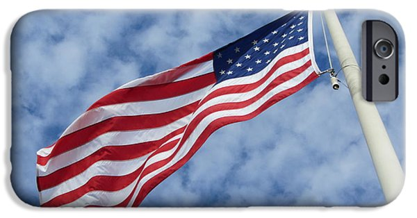 Flag iPhone Cases - Old Glory iPhone Case by Susan Carella